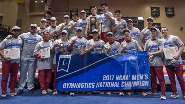 Oklahoma sooners men's gymnastics OU NCAA national champions