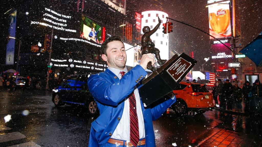 Oklahoma Sooners football OU Baker Mayfield Heisman trophy