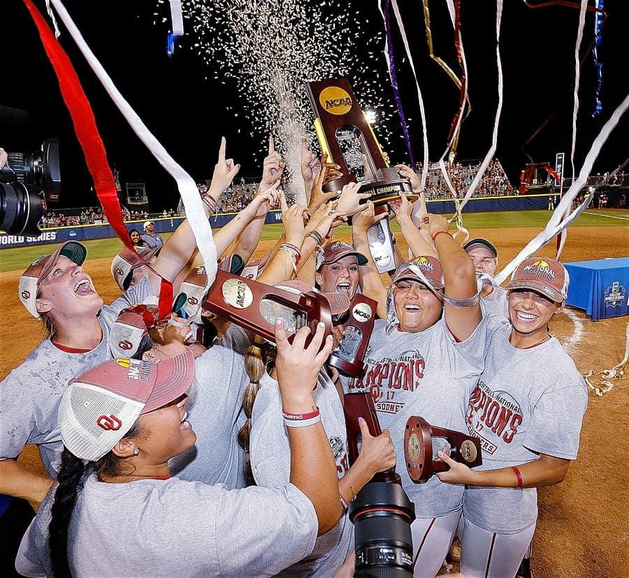 Oklahoma sooner softball team NCAA National Champions OU