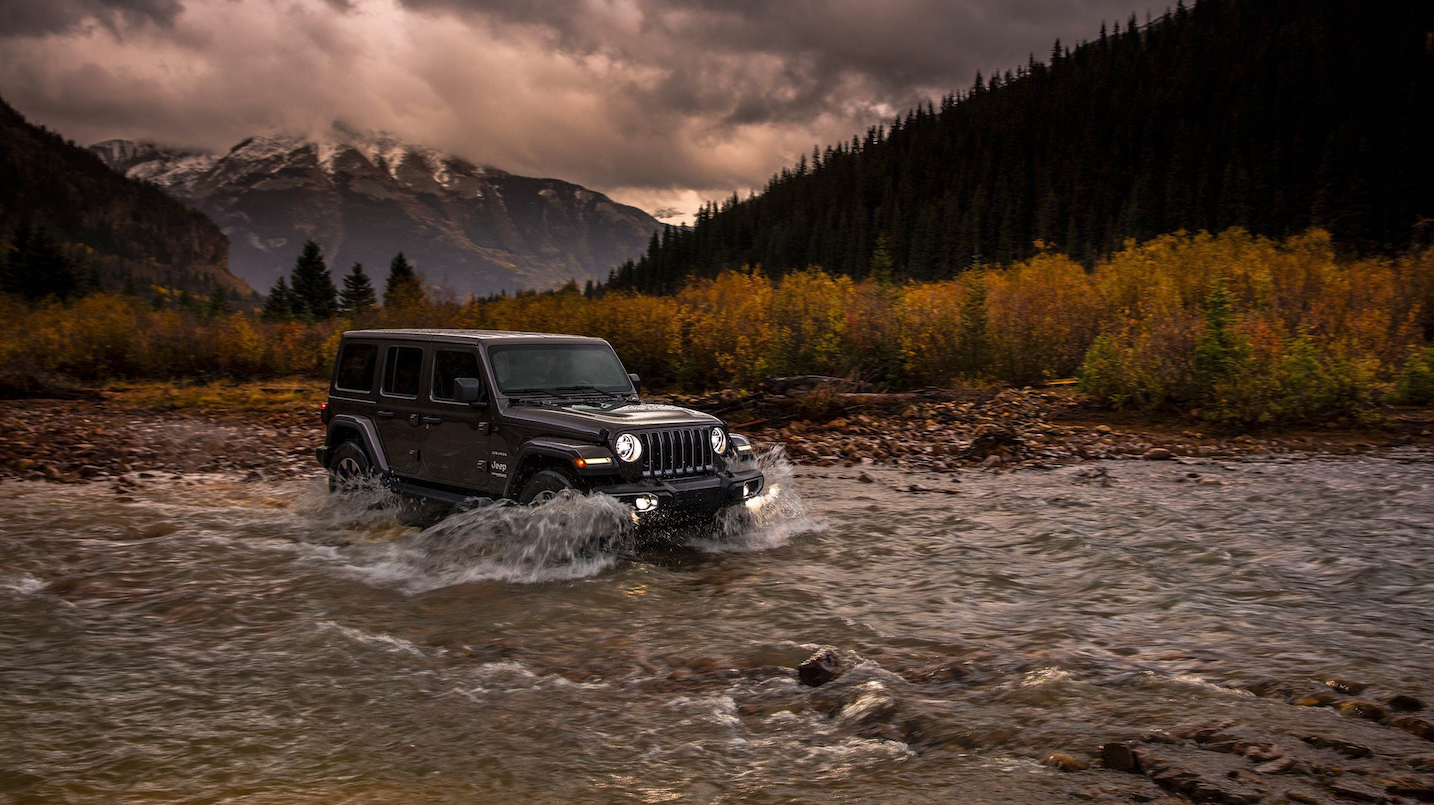 Jeep Wrangler water fording