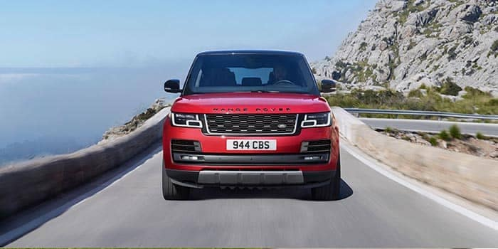2018 Land Rover Range Rover Driving Front End View