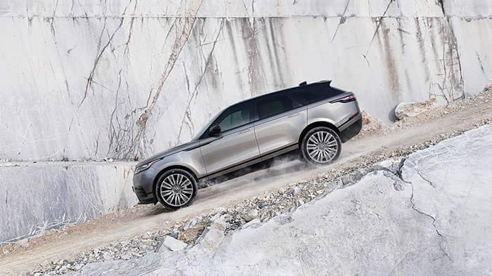 2018 Land Rover Range Rover Velar Off-Roading Down Mountain