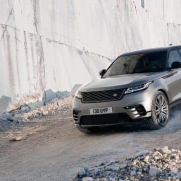 2019 Land Rover Range Rover Velar driving down slope