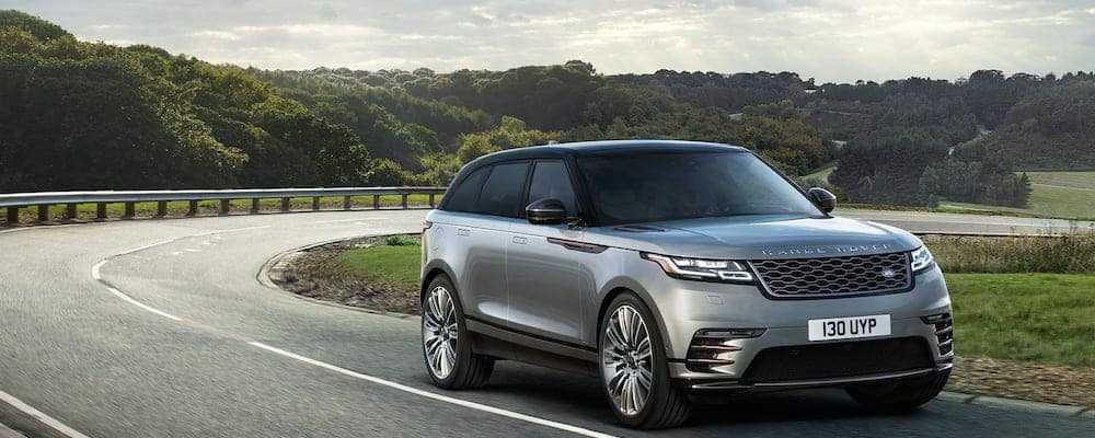 2019 range rover velar driving on highway