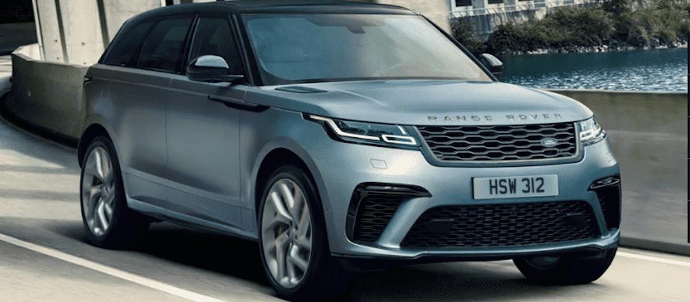 Blue 2019 Range Rover Velar