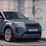 Blue Range Rover Evoque
