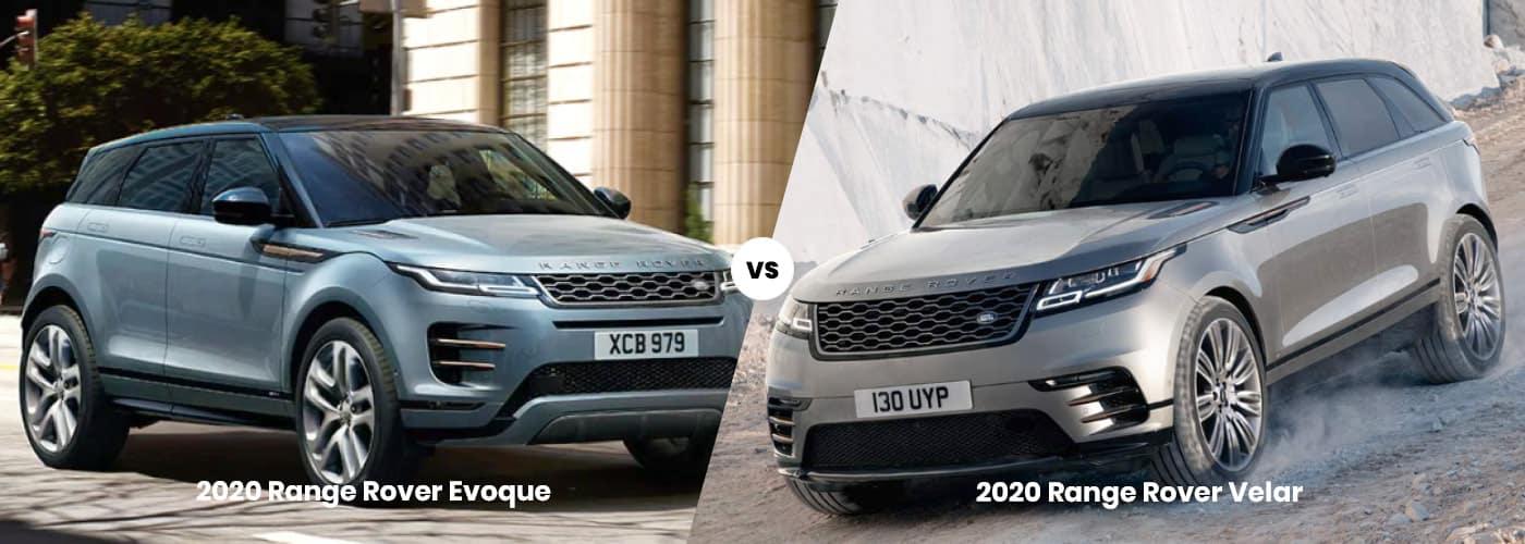 2020 Range Rover Evoque vs Velar