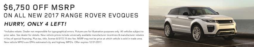 Evoque December Offer Land Rover Hinsdale
