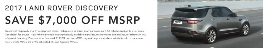 Discovery Land Rover Hinsdale April Offer Homepage