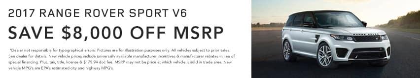 Range Rover SportV6 Land Rover Hinsdale April Offer Homepage
