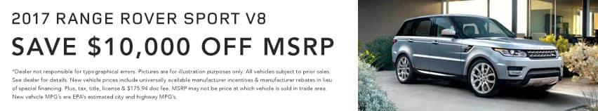 RRsportV8 Land Rover Hinsdale April Offer Homepage