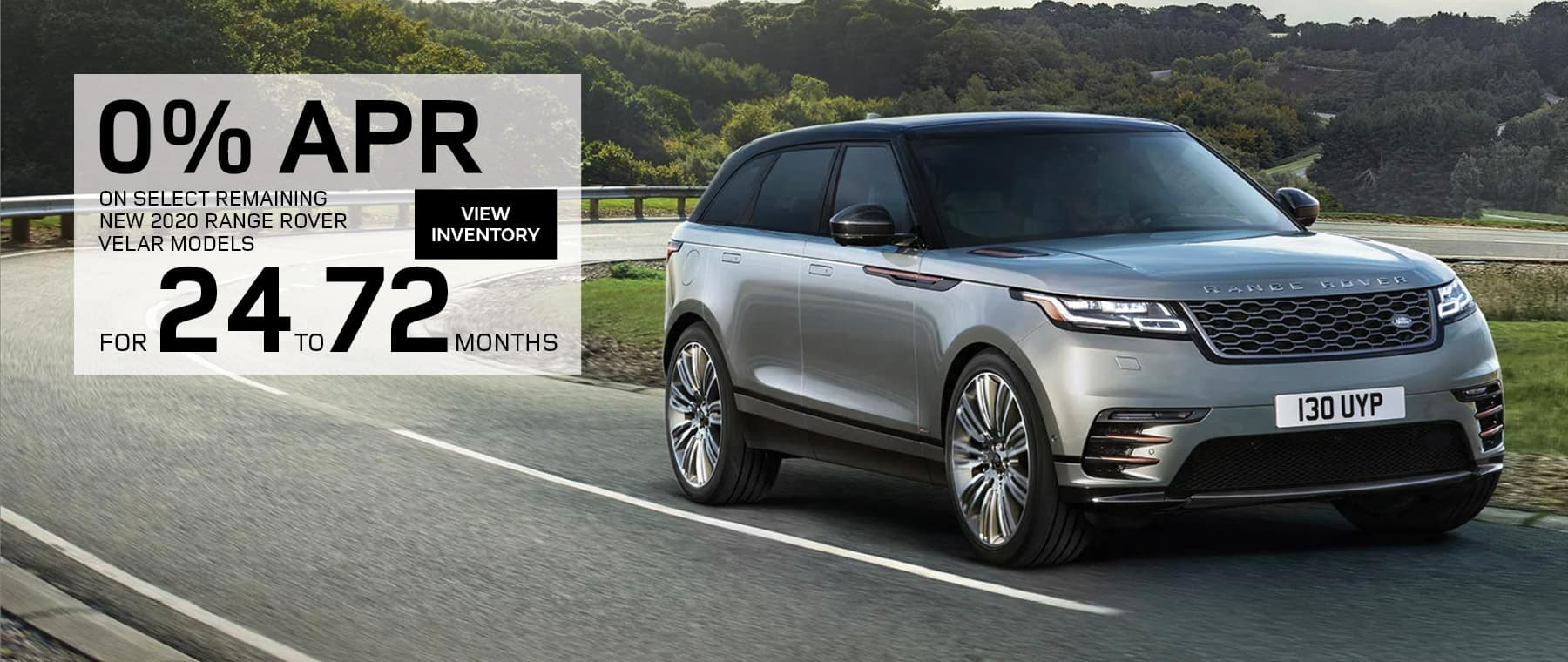 0% for up to 72 Months on Select New Land Rover models