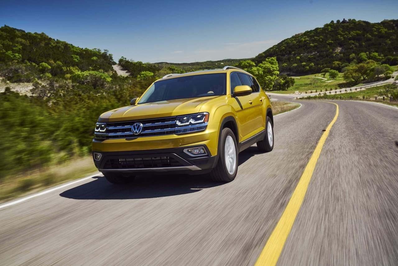 2018 Volkswagen Atlas Yellow Front Exterior