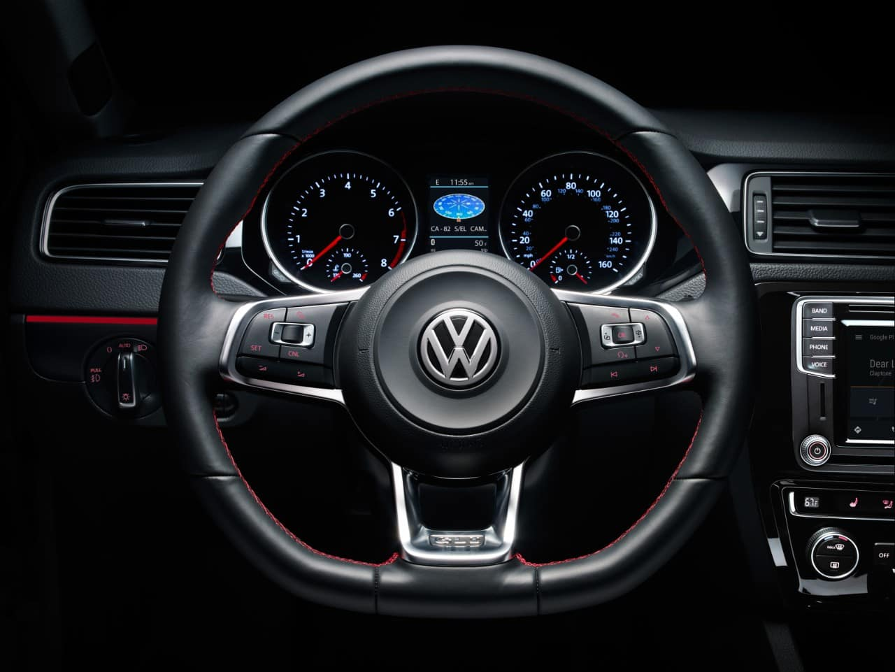 2017 Volkswagen Jetta Interior Steering Wheel Detail