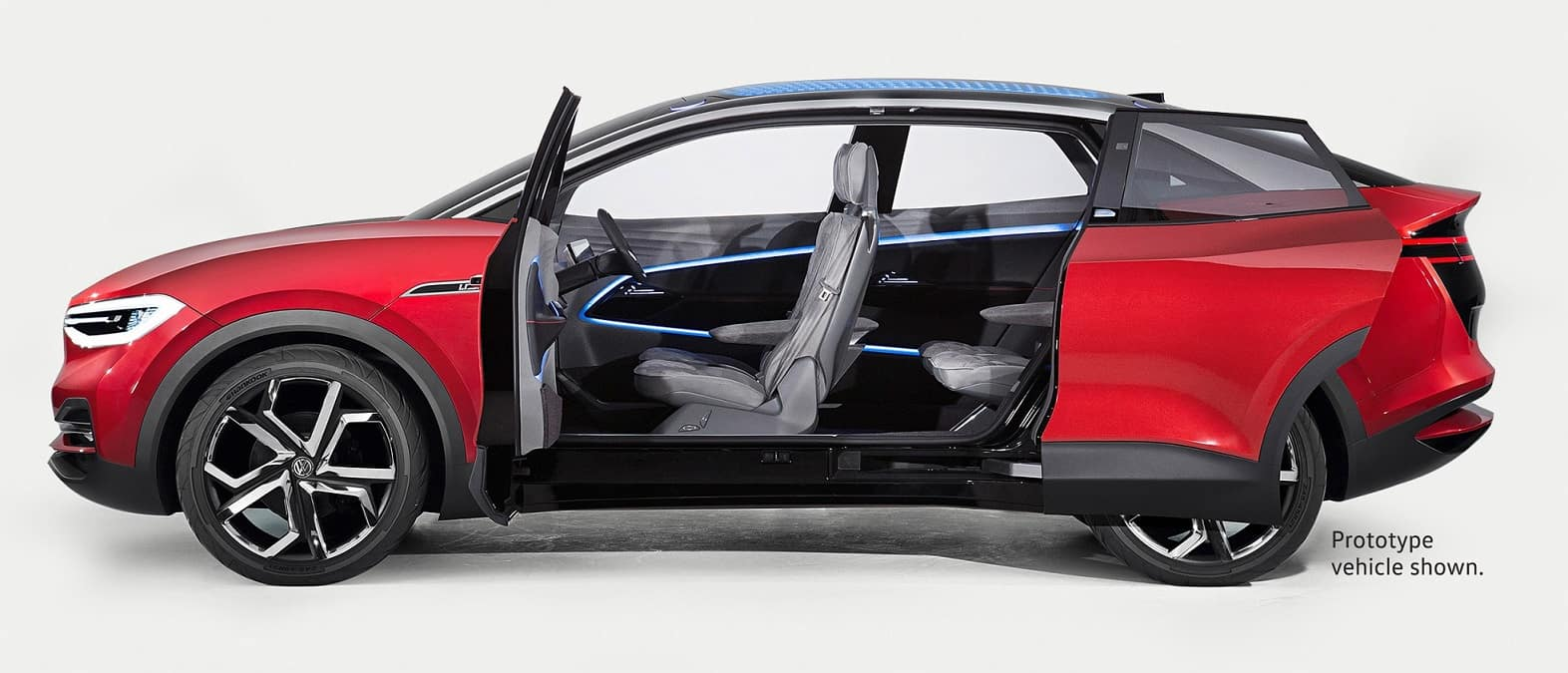 Volkswagen I.D. CROZZ Prototype Vehicle Side Profile and Interior Seating