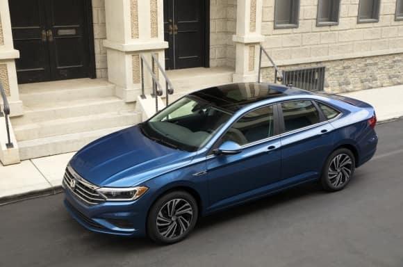 2019 Volkswagen Jetta Blue Exterior Top View