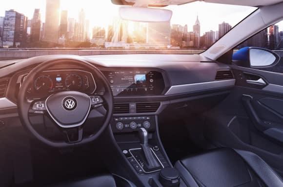 2019 Volkswagen Jetta Blue Front Interior