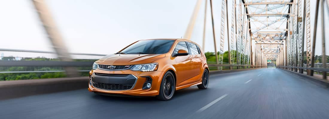 2018 Chevy Sonic On Bridge