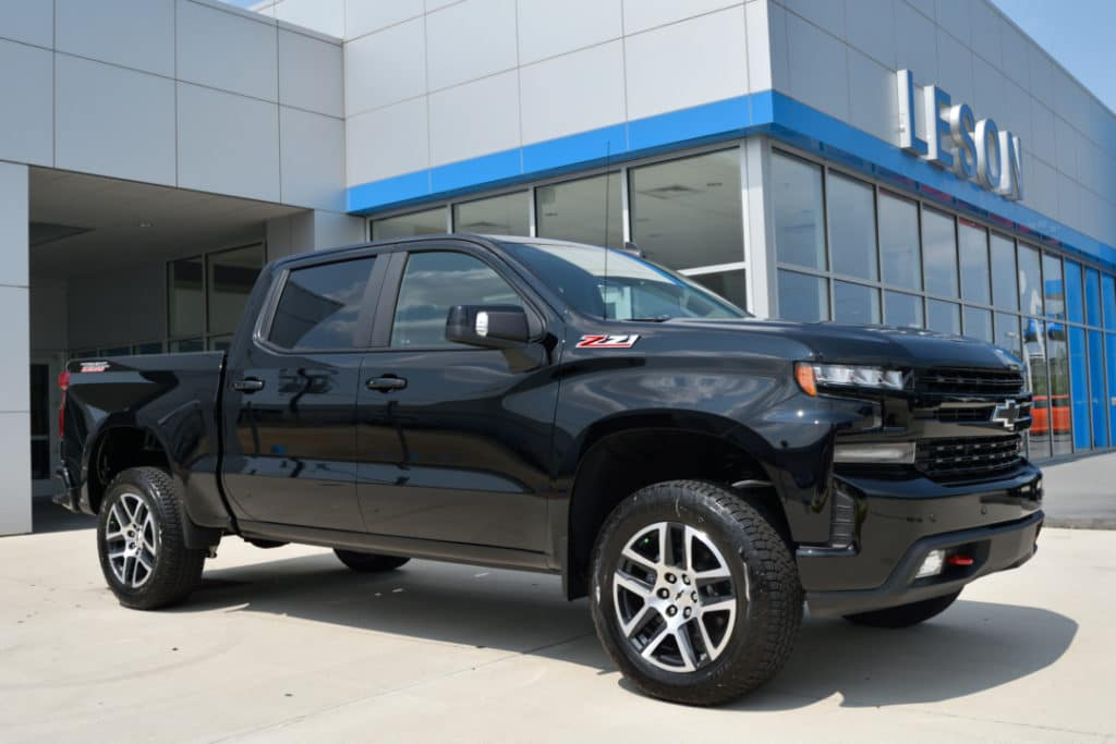 Leson Chevrolet has its first 2019 Silverado arrive on its lot.