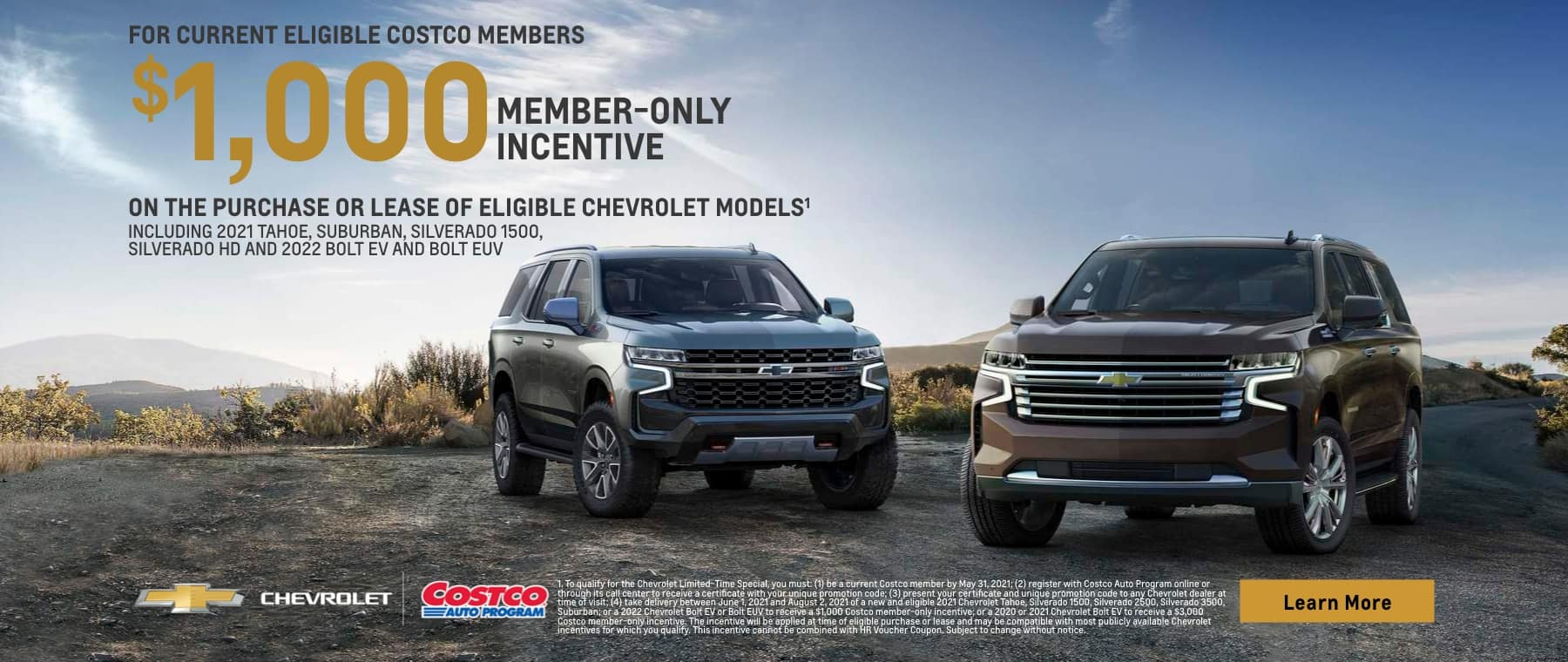 Tahoe costco members only incentive