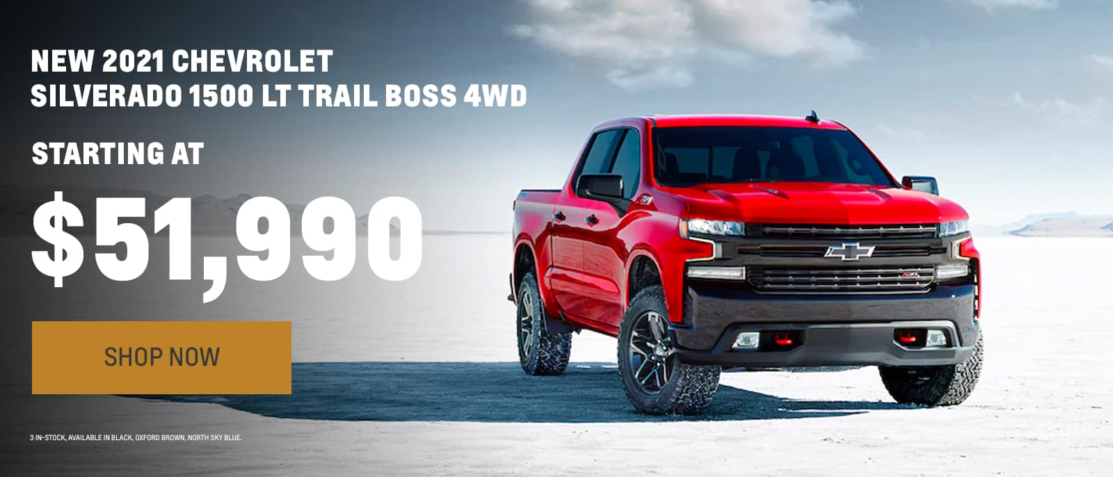 New 2021 Chevrolet Silverado 1500 LT Trail Boss starting at $51,990