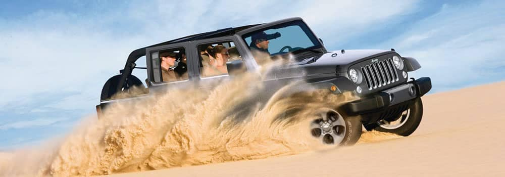2018 Jeep Wrangler Off-Roading in Sand Dunes
