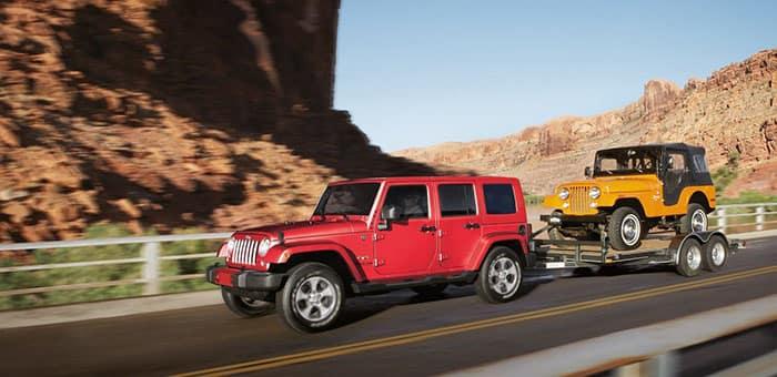 2018 Jeep Wrangler Towing a Trailer