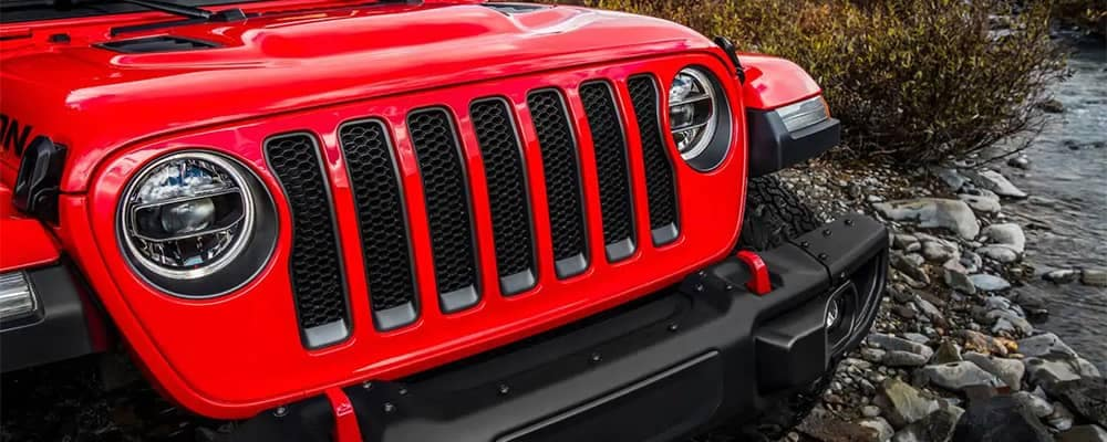 Jeep Wrangler Rubicon Front End Closeup