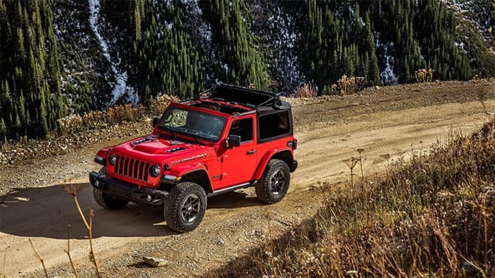 2019 Jeep Wrangler Red Off-Roading