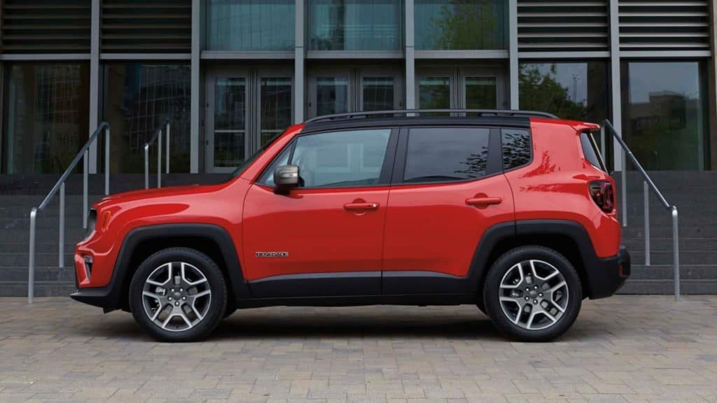 2020 Jeep Renegade Side View Red