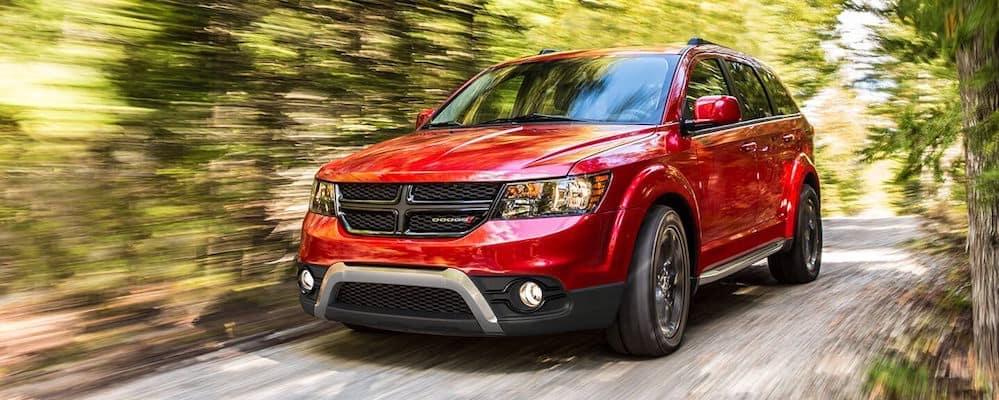 Dodge-Journey-driving-through-woods