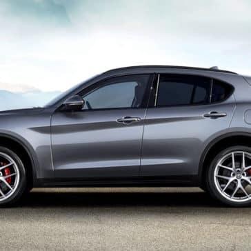 2018 Alfa Romeo Stelvio Ti Parked Mountain
