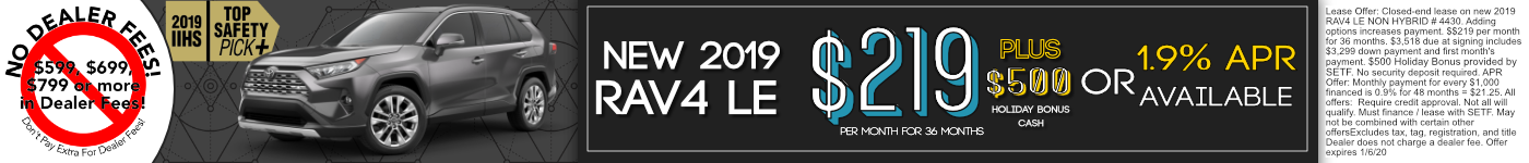 2019 Rav4 Offer