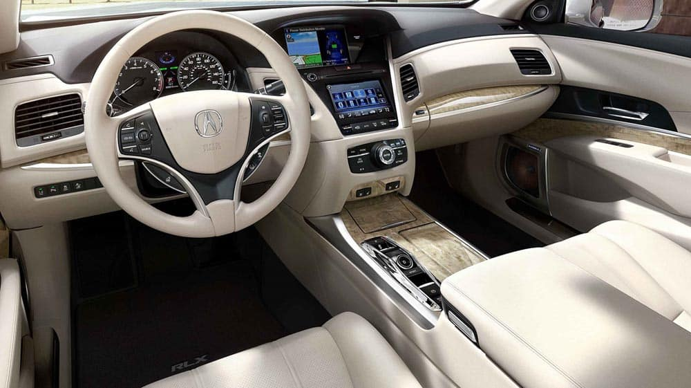 2018 Acura RLX Interior Brown Cabin
