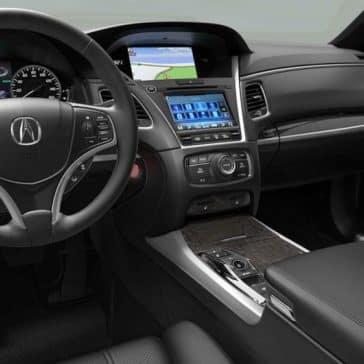2018 Acura RLX Black Interior Cabin