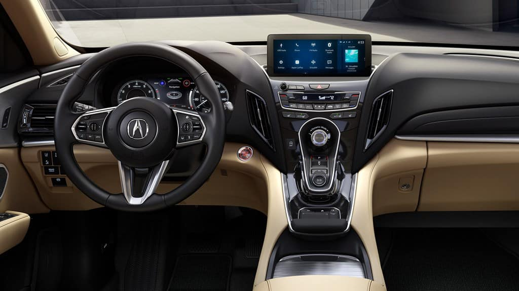 2019 Acura RDX Driver POV Cockpit Advance Package Parchment Interior