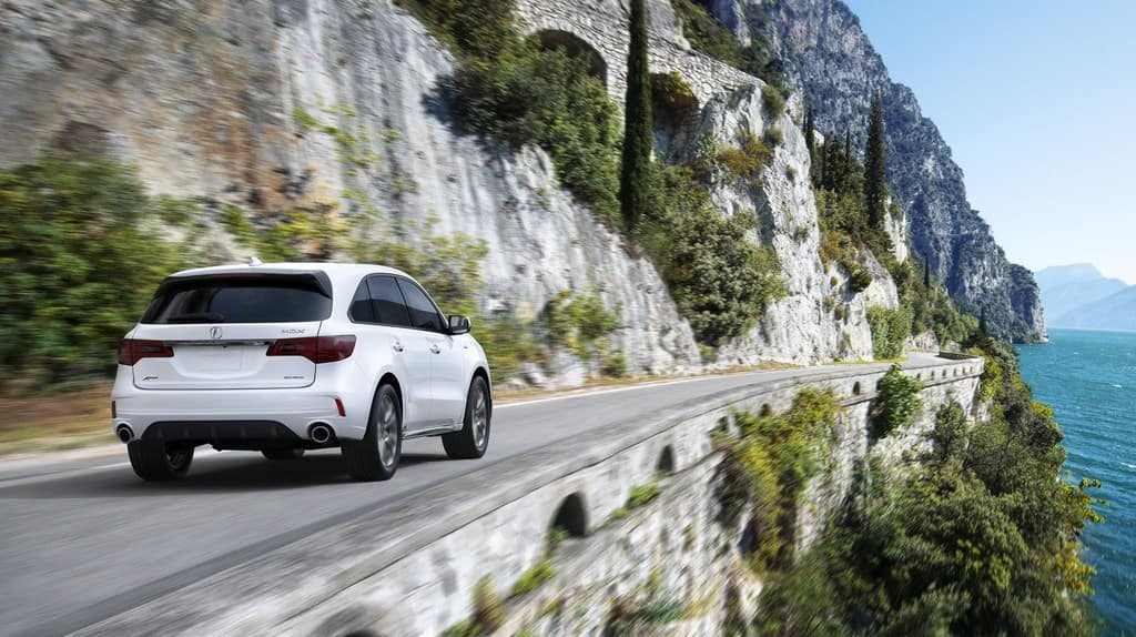 Acura MDX Driving on Mountainside