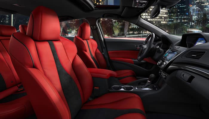 2019 Acura ILX Red Interior Side View