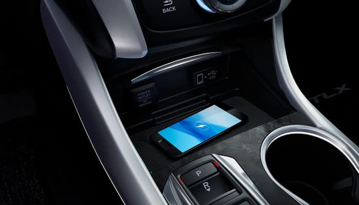 2019 Acura TLX Interior Phone Charging Station