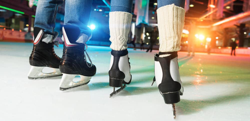 Couple Ice Skating Together