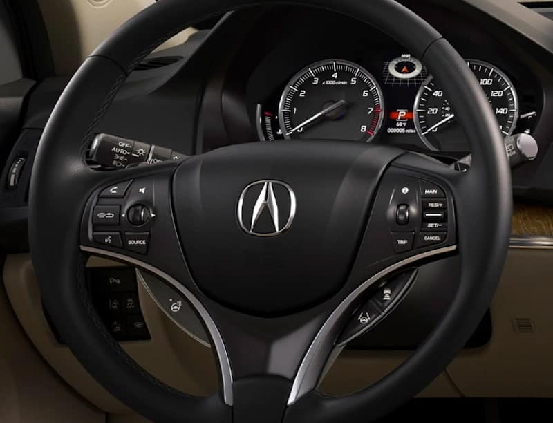 2019 Acura MDX Advance Package Gauge Cluster and Steering Wheel
