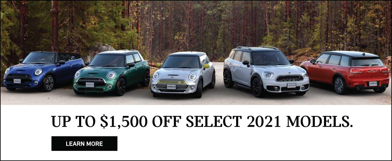 Up to $1500 off select MINI models