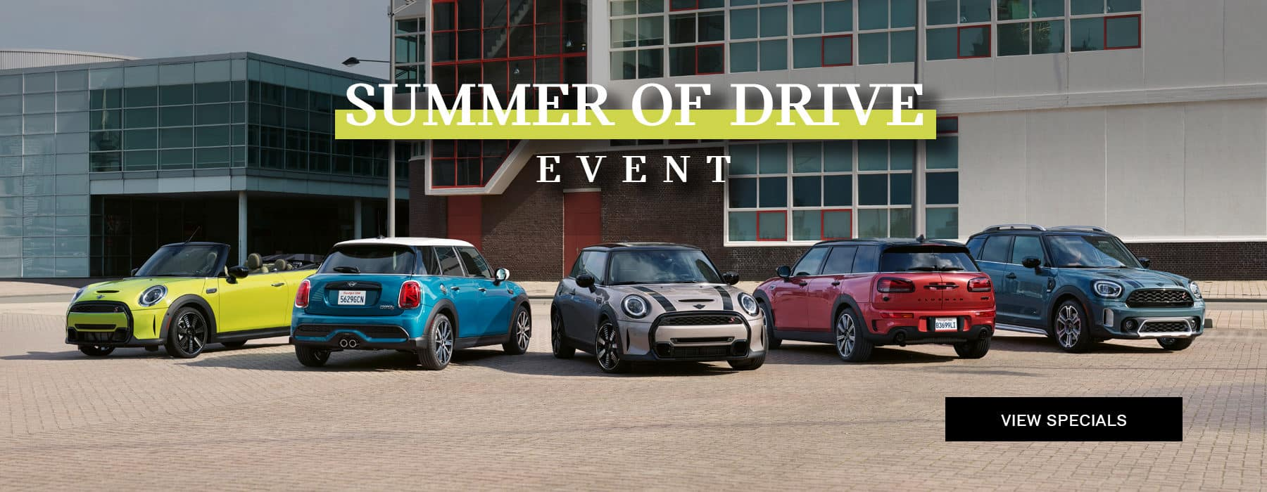 Summer of Drive Event showing the MINI model line up