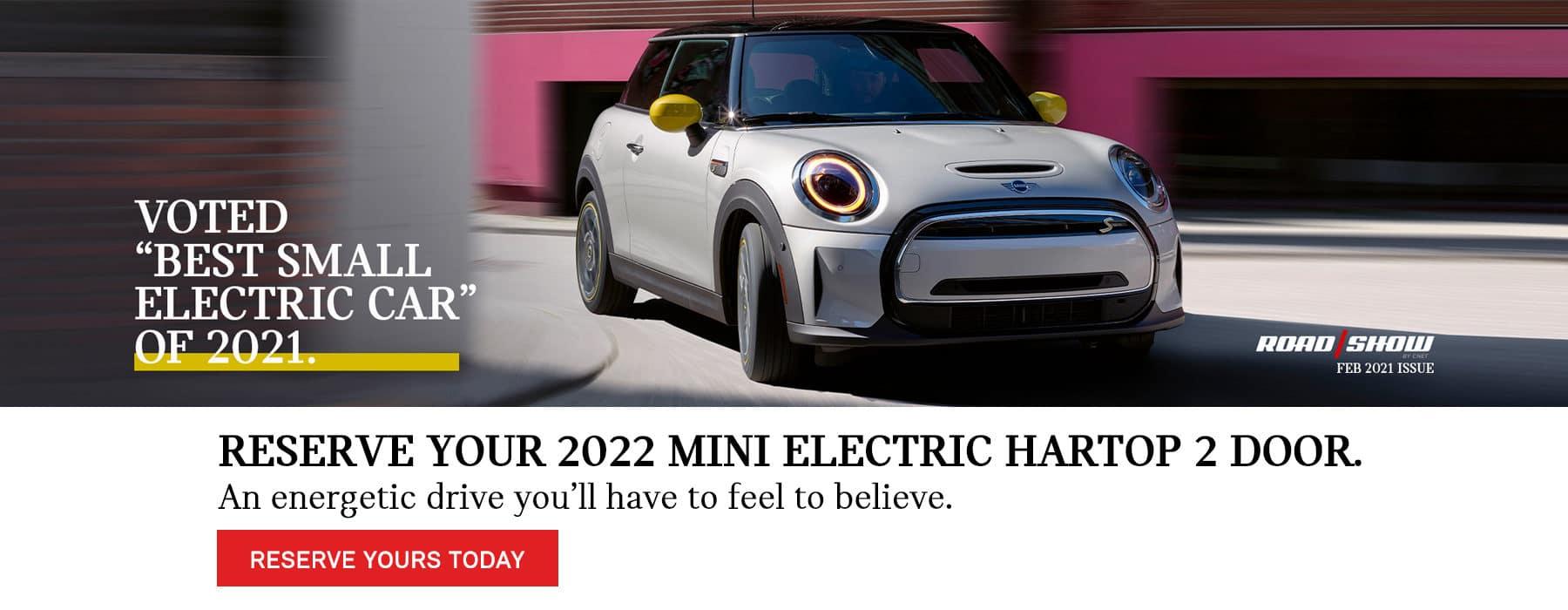 Reserve your 2022 MINI electric hardtop 2 door