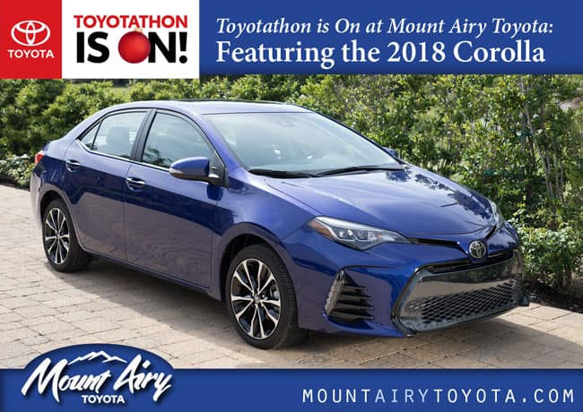 toyotathon is on at mount airy toyota featuring the 2018 corolla. Black Bedroom Furniture Sets. Home Design Ideas