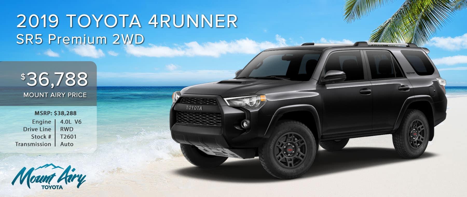 Black 2019 Toyota 4Runner on sale