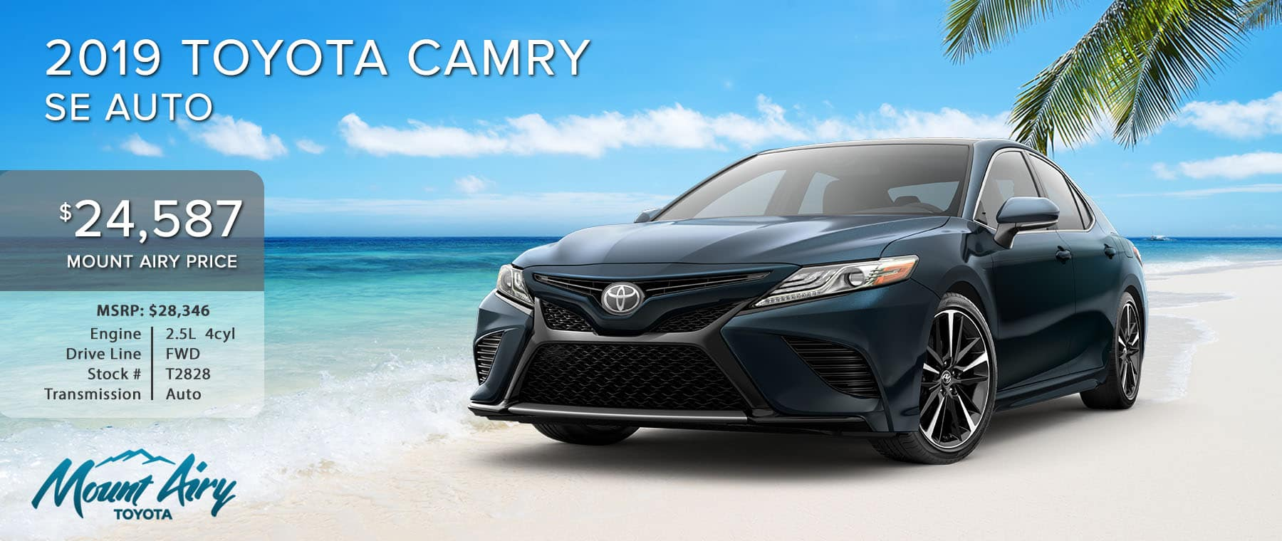 Blue 2019 Toyota Camry on sale