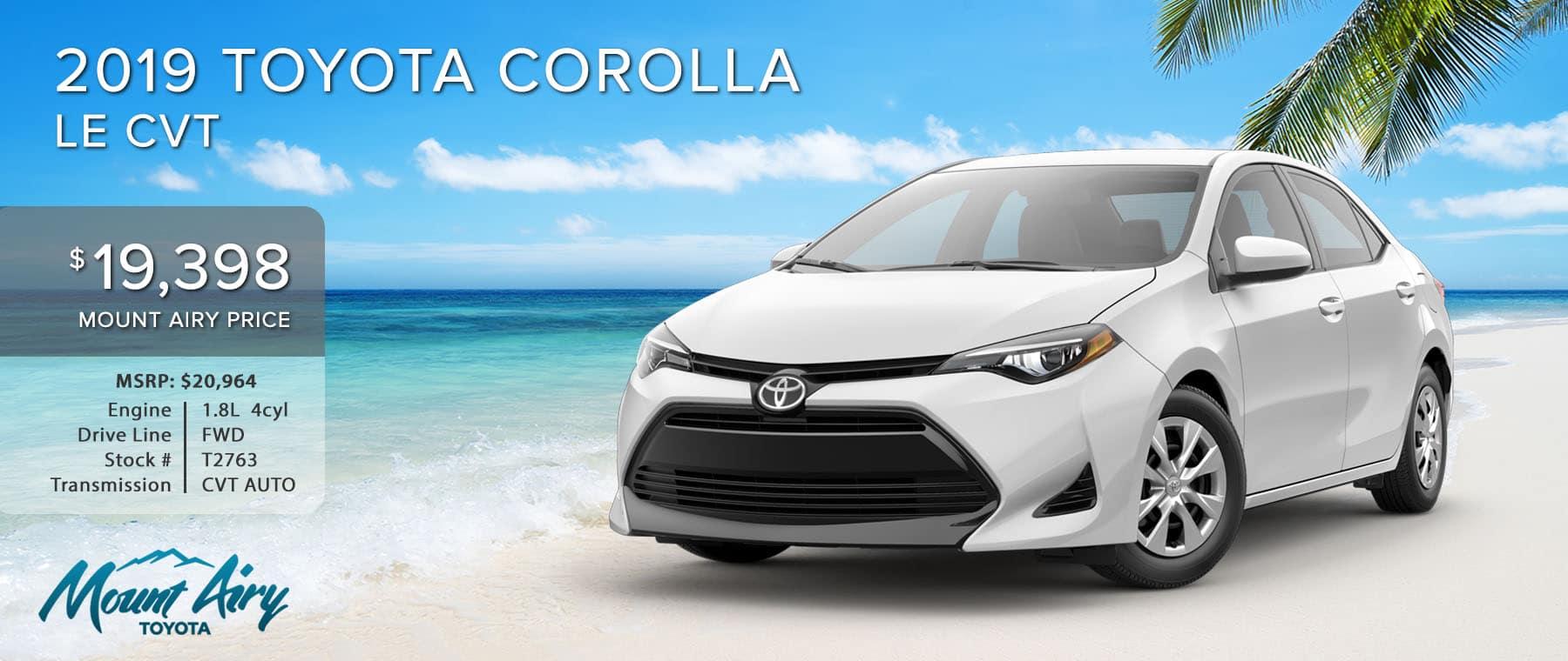 White 2019 Toyota Corolla on sale