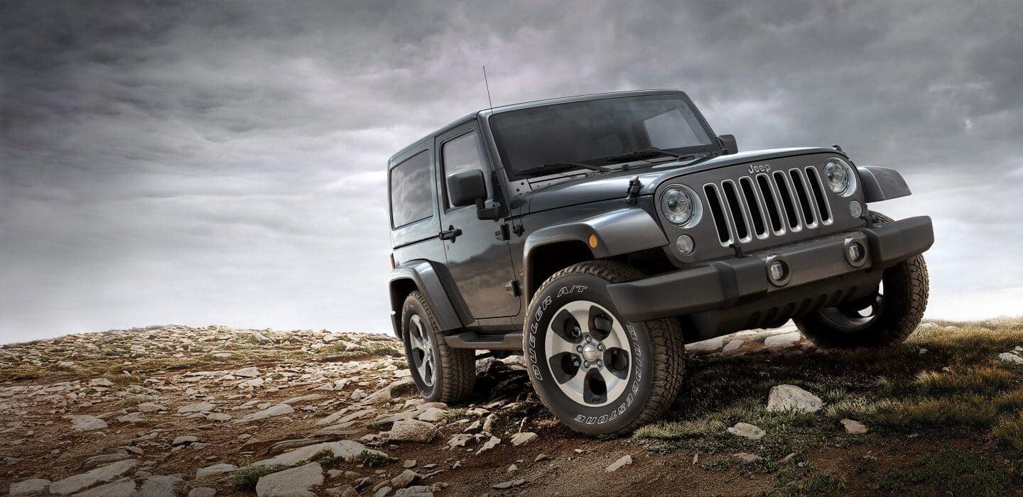 2017 Jeep Wrangler off-roading