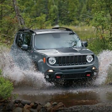 2017 Jeep Renegade off-roading through water